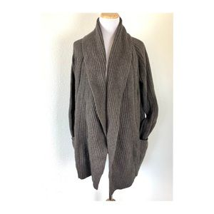 All saints Cable Knit Sweater Cardigan Wool Angora